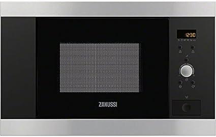 Zanussi ZBM17542XA Integrado 16.8L 800W Acero inoxidable - Microondas (Integrado, 16,8 L, 800 W, Botones, Giratorio, Acero inoxidable, 27,2 cm)