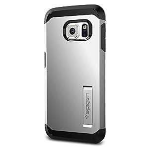 Spigen SGP11432 - Funda para Samsung Galaxy S6 Edge, Plata/Negro