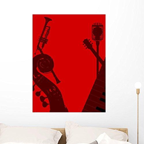 Bass Pop Trumpet - Wallmonkeys Jazz Club Wall Mural Peel and Stick Graphic (36 in H x 27 in W) WM364807
