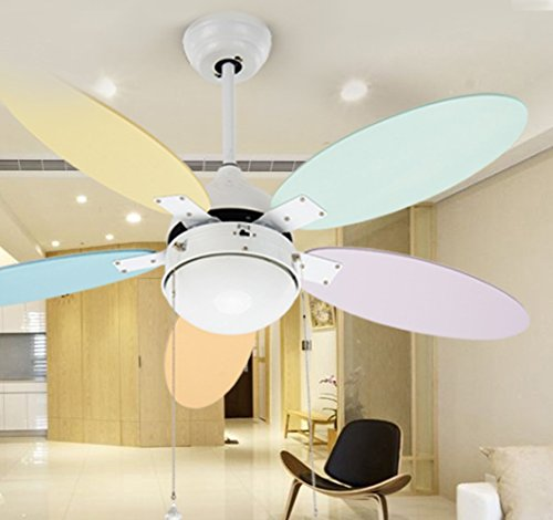 Rainierlight white kids ceiling fan for children for bedroomliving roomindoor 5 colorful wood blades led light kit 42 inch rainierlight white kids ceiling fan for children for bedroomliving roomindoor 5 colorful aloadofball Choice Image
