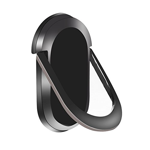 CYHONG Cell Phone Finger Holder 360° Rotation Finger Ring Stand Magnetic Car Mount Universal Smartphones Kickstand for iPhone 8/8s Plus, iPhone 7/7 Plus, Samsung Galaxy S8/S8 (black)