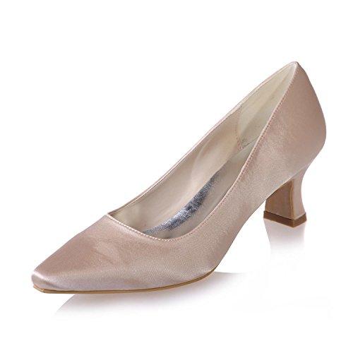 Fiesta Más Champagne Disfraces yc Punta Disponibles 01 Colores Mujeres De L Las En 0723 Boda Profesionales Zapatos Y Seda Z6wWqF