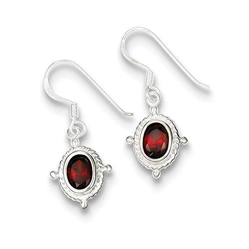 Best Designer Jewelry Sterling Silver Fancy Garnet Earrings