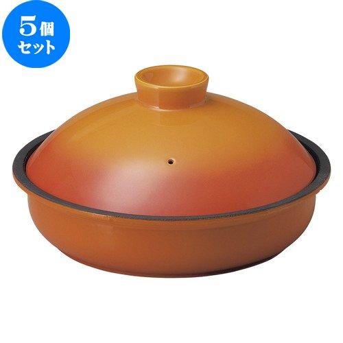 5個セット 20.5cm 鉄鍋 ベイクオレンジ [ D 20.5 x H 11.3cm ] 【 鉄製鍋 】 【 飲食店 レストラン ホテル カフェ 洋食器 業務用 】   B07BJNK9KM