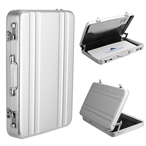 Portable Mini Photo Card Case  Woodmin Creative Comprehensive Aviation Aluminum Case For Instax Mini Films  Business Cards  Id Cards  Silver
