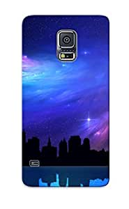 Galaxy S5 Cover Case Design - Eco-friendly Packaging(nebula Over The City ) by lolosakes