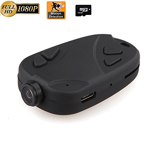 Hidden Camera,808 1080P Keychain Camera Motion Activated Portable DV Sport Action Camera (+ 16GB Memory Card) (Best Keychain Spy Camera)