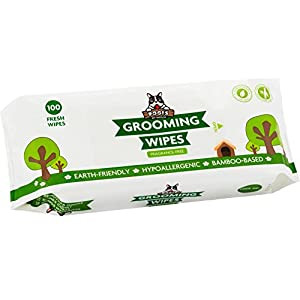 Pogi's Grooming Wipes - Hypoallergenic Pet Wipes for Dogs & Cats - Plant-Based, Earth-Friendly, Deodorizing Dog Wipes 40