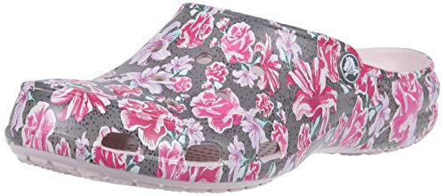 crocs Women's Freesail Clog Adults, multi floral/rose dust, 5 M US (Shoes Garden Waterproof)
