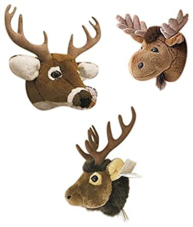 Amazon Com Moose Elk White Tailed Deer Set Of Three Wall