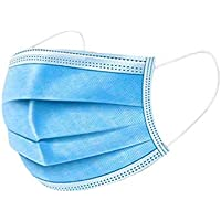 Disposable Face Mask, 50pcs 3 Ply Earlooped Mask (Comfortable and Fitting) Daily Protective Anti-Dust