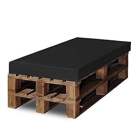 SERMAHOME Colchoneta para Sofas de Palet (1 x Unidad) Cojin Relleno de Espuma para Sofa de Exterior. Color Negro | Cojines de Sofa Chill out, Interior ...