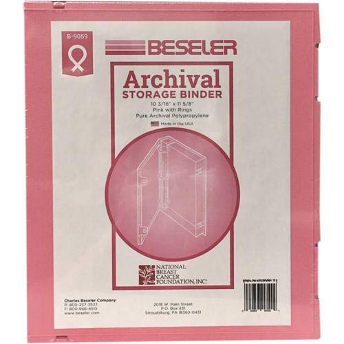 Besfile Archival Binder with Rings - Pink by Beseler