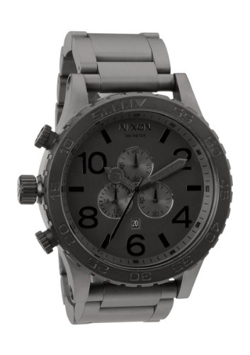 Matte Black/Matte Gunmetal The 51-30 Chrono by Nixon