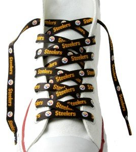 Pittsburgh Steelers Shoe Laces - 54 Inches Black