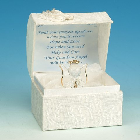 Glass Guardian Angel Box Collectible Decoration Design Container Model (Decorations Angels)