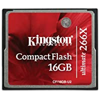 Kingston Ultimate 16 GB 266x CompactFlash Memory Card CF/16GB-U2