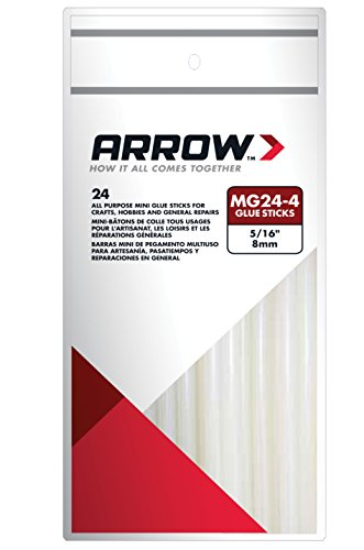 Price comparison product image Arrow Fastener MG24-4 All Purpose Mini Glue Sticks, 4-Inch, 24-Pack