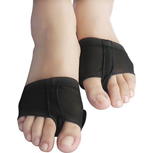 ISYITLTY Women's Dance Paws Pad Foot Thongs Toe Undies Half Lyrical Shoes Black S (Pointe Shoes Black)
