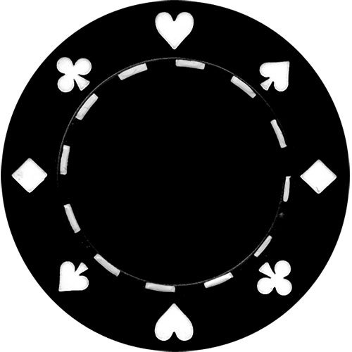 50 Clay Composite Suited 11.5-Gram Poker Chips (BLACK)