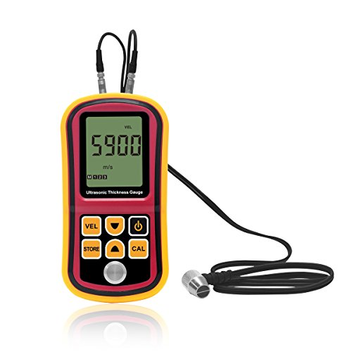 Thickness Ultrasonic Tester (Signstek Digital Ultrasonic Thickness Gauge Meter Tester, Range 1.2~225mm)