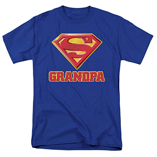 Popfunk Superman Supergrandpa Logo T Shirt for Grandfathers (XX-Large)