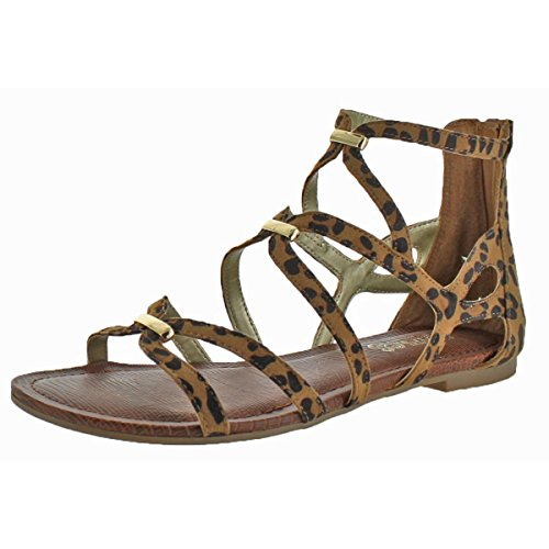 Carlos by Carlos Santana Womens Emma Leopard Casual Strappy Sandal Size 6 ()