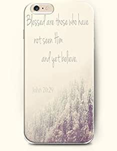 iPhone 6 Case,OOFIT iPhone 6 (4.7) Hard Case **NEW** Case with the Design of Blessed are those who have not seen Him and yet believe. John 20:29 - Case for Apple iPhone iPhone 6 (4.7) (2014) Verizon, AT&T Sprint, T-mobile by icecream design