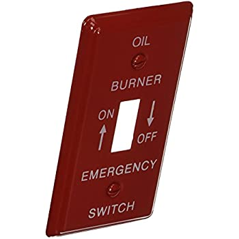 """10 pc NEW 4x4 4/"""" Red Emergency Gas Burner Electrical Box Cover 1 Toggle Switch"""