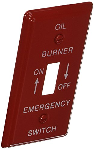 Emergency Metal Switch Plates - Morris 83490 Emergency Metal Switch Plate, Utility Oil, Red