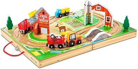Amazon Com Melissa Doug Take Along Farm Multicolor 30142 Toys Games