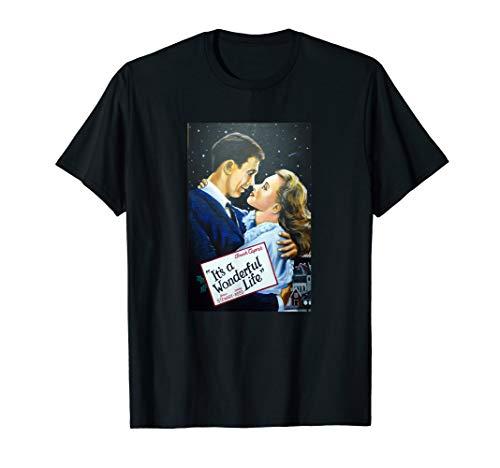 It's a Wonderful Life Movie Poster Public Domain Old Art  T-Shirt