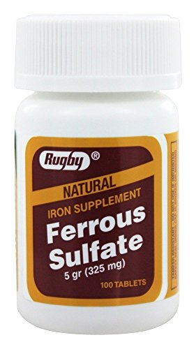 Rugby - Ferrous Sulfate 325 mg. - 100 Tablets