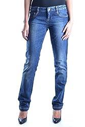 Frankie Morello Women S Mcbi11271 Blue Cotton Jeans
