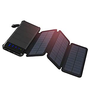 Amazon.com: Cargador solar, addtop 10000 mAh Solar Power ...