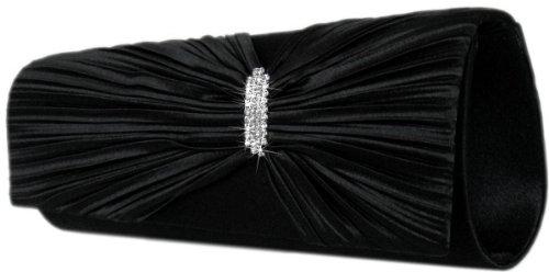 Edle Handtasche/ Clutch Tasche,26x9 cm,Schwarz