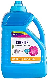 Darice 64-Ounce Bubble Solution-Includes Wand and Easy Pour Funnel Top-Works with Bubble Machines-for Weddings