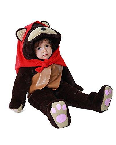 Miccostumes Kids Ewok Halloween Cosplay Mascot Costume with Scarf Shoulder Bag (child (Ewok Halloween Costumes)