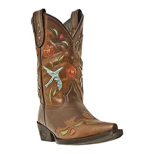 Dan Post Para Hombre 13 Choc Custom Round Toe Cowboy Heel Single Stitche Dp2154 8 Ew