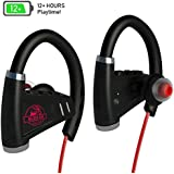 [Newest 2018] Bluetooth Headphones w/ 12+ Hours Battery - Best Wireless Sport Earphones, Mic - IPX7 Waterproof Music in-Ear Earbuds Gym, Running, Workout Men, Women