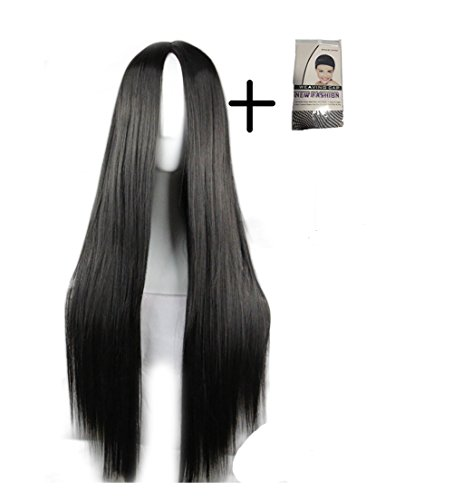 long black fancy dress wigs - 1