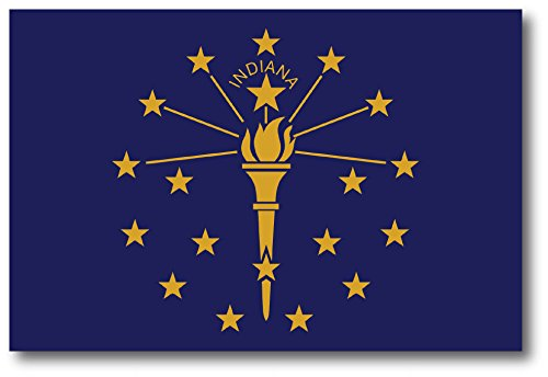 Indiana Car Magnet US State Flag Refrigerator Locker SUV Heavy Duty Waterproof…