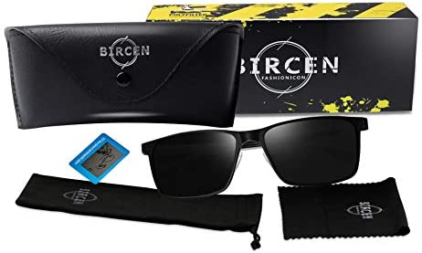 Bircen Mens Polarized Driving Sunglasses For Mens Women Al-Mg Metal Frame Lightweight Fishing Sports Outdoors