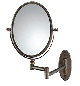 Amazon Com Conair Beaded Oval Wall Mount Mirror In Oil