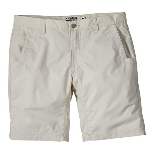 (Mountain Khakis Men's Stretch Poplin Shorts Relaxed Fit Oatmeal 38 10)