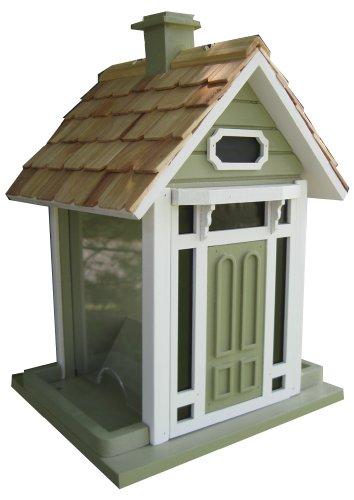 Home Bazaar Bellport Cottage Birdfeeder, Green