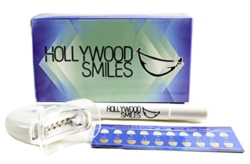 HOLLYWOOD SMILES, POWER BLUE LED Technology Teeth Whitening Accelerator Light with 35% Carbamide Peroxide Whitening Pocket Pen, 5X More Powerful LED Light, Whiten Teeth 200% Faster Batteries Included