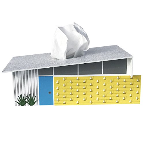 Destination PSP Midcentury-Modern Wedge Tissue Box Cover (Palm Tissue Box Cover)