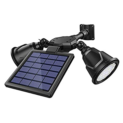 DBF Solar Motion Sensor Light Outdoor?Upgrade Version? 1000 Lumens Weatherproof Dual Head Spotlights Solar Powered Landscape Lights 4Mode,Ultra-Bright Front Door,Backyard,Driveway,Garage