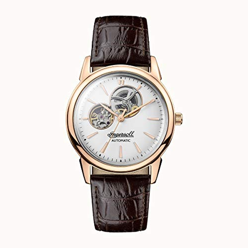 Ingersoll The New Haven Mens Analog Automatic Watch with Leather Bracelet I07301